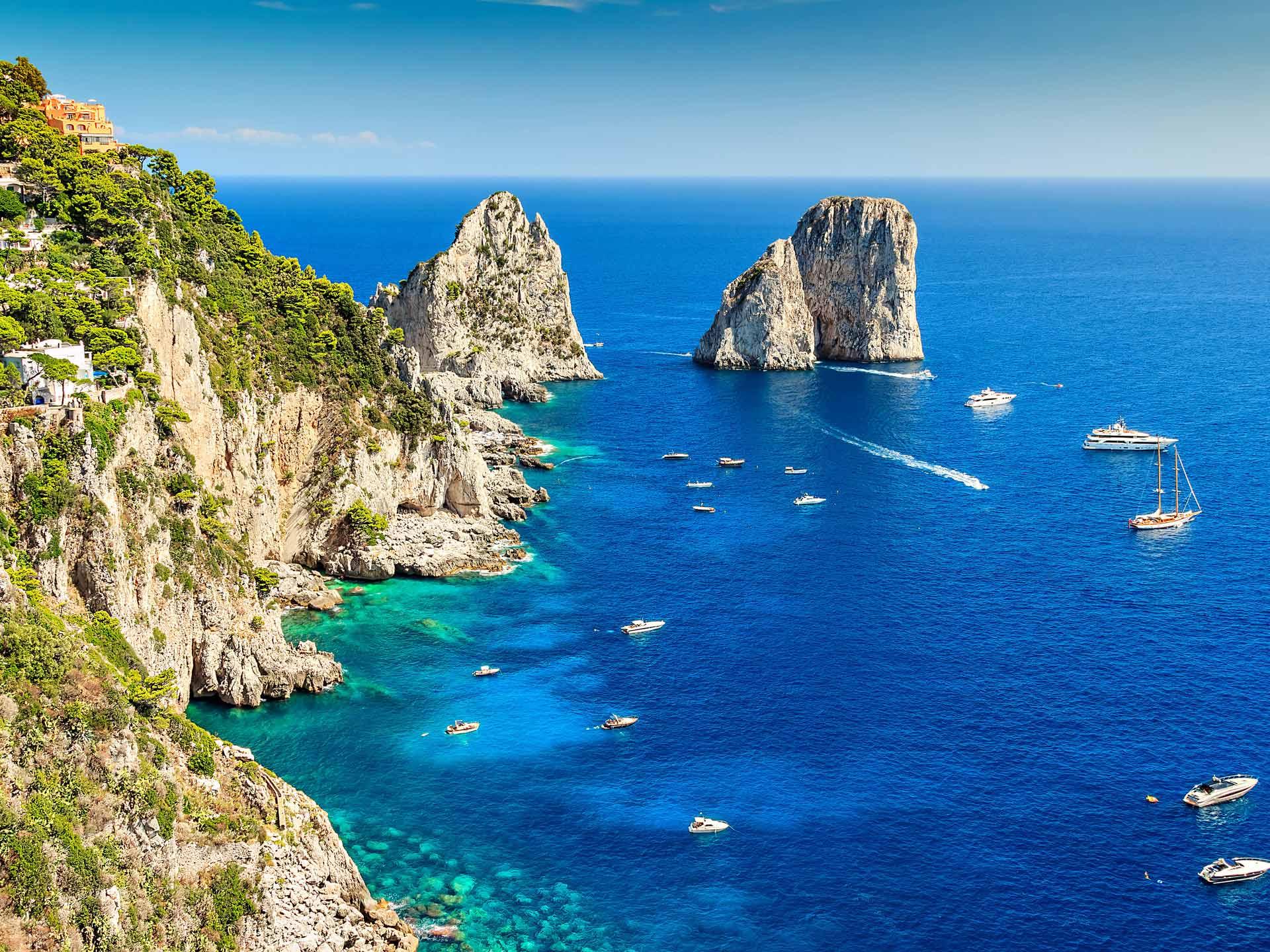 Capri island italy tour boat guide